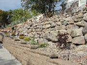 Large Boulder Retaining Wall