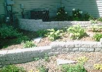 Barkman Retaining Wall w/Perennials and Annuals